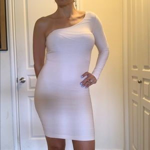 One shoulder BEBE bodycon dress